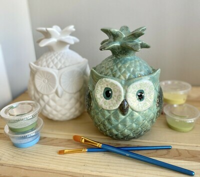 Pineapple Owl Jar