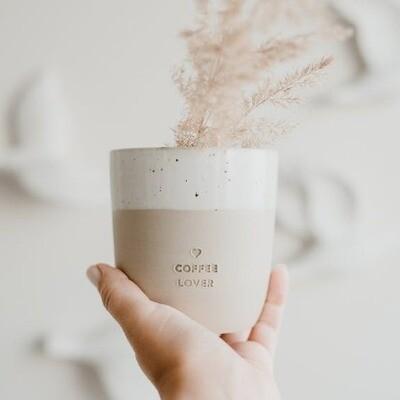 Handgemaakt kopje 'Coffee Lover'