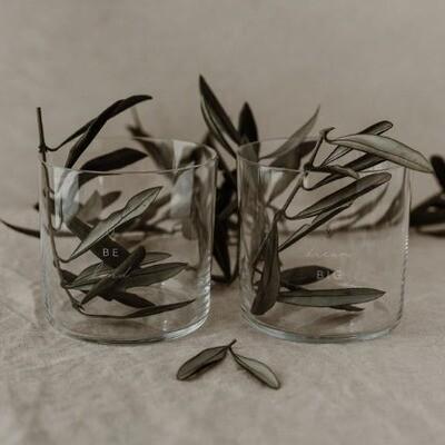 'Dreams' Glazen met opschrift (set van 2)