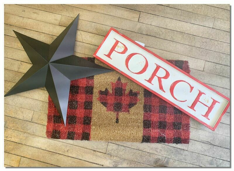 GIFT PACKAGE - Front Door Mat, Wall Plaque - Porch & Star