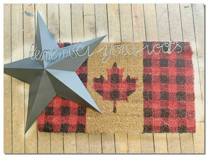 GIFT PACKAGE - Front Door Mat - Canadian Theme, Star & Wall Plaque