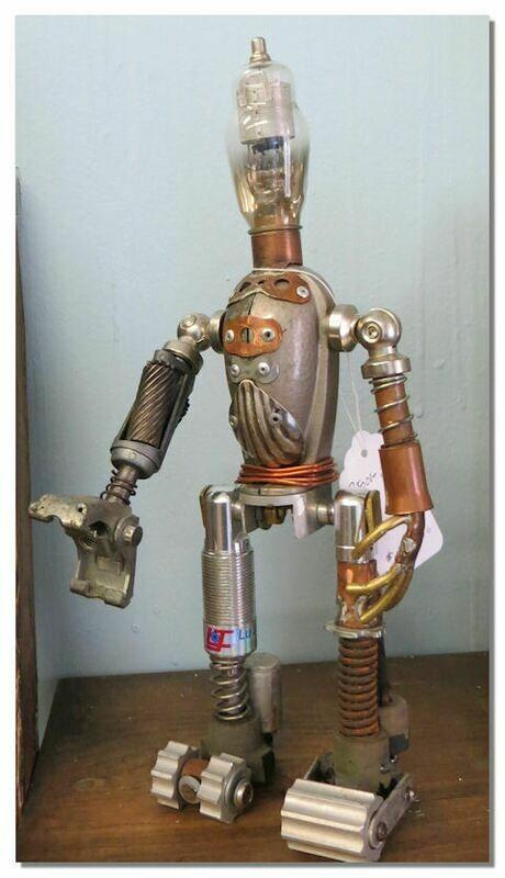 Assemblage Art Robot