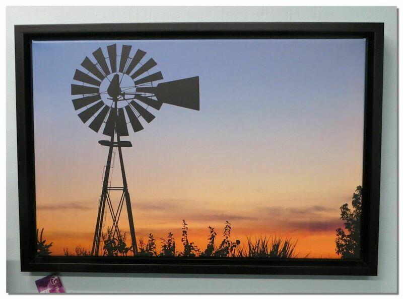 Framed Sunset Photo on Canvas