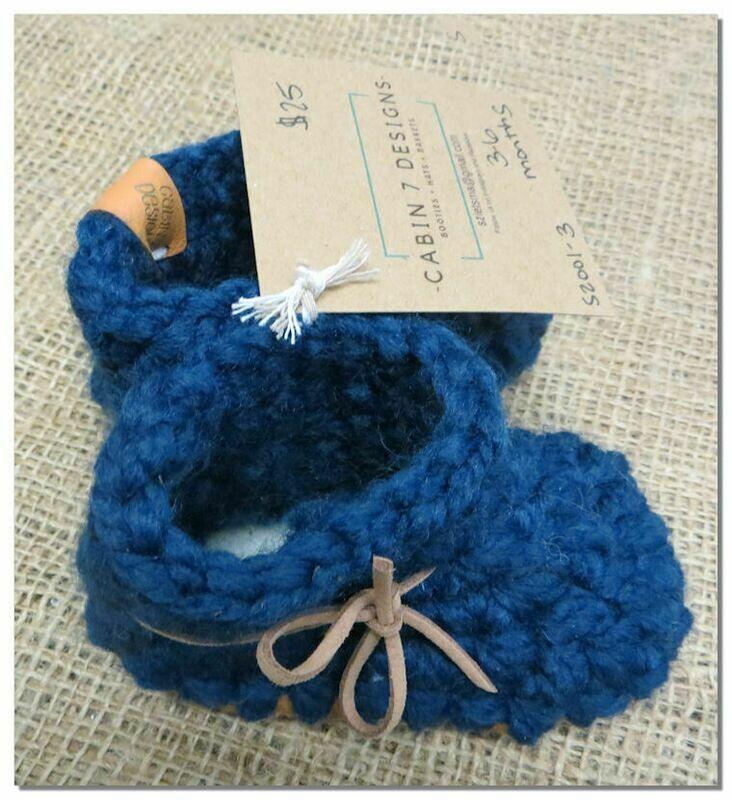 CABIN 7 Designs Crochet Moccasins
