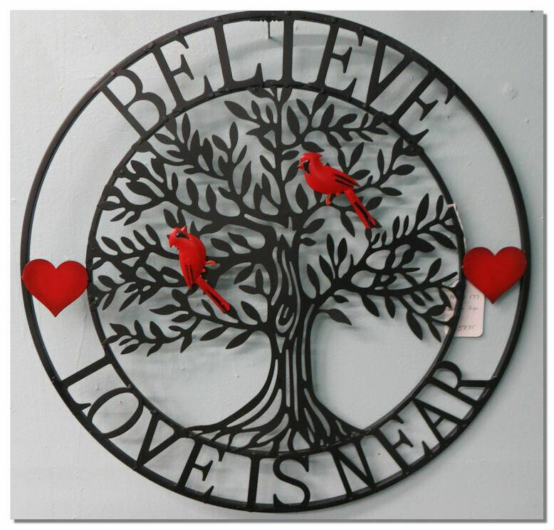 Believe Love is Near Metal decor