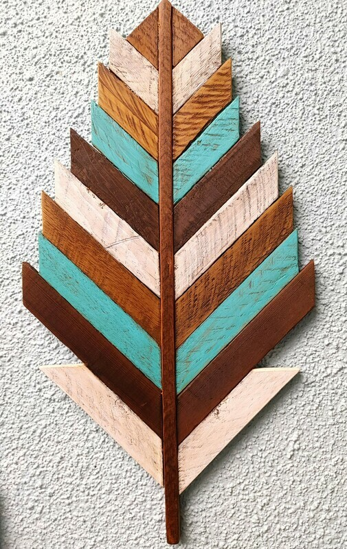 Wooden Feather Decor