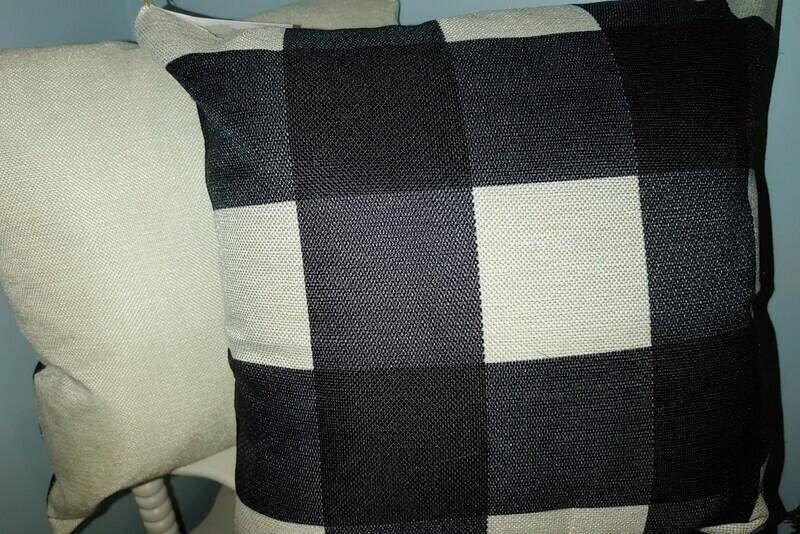 Pair of Plaid Throw Pillows