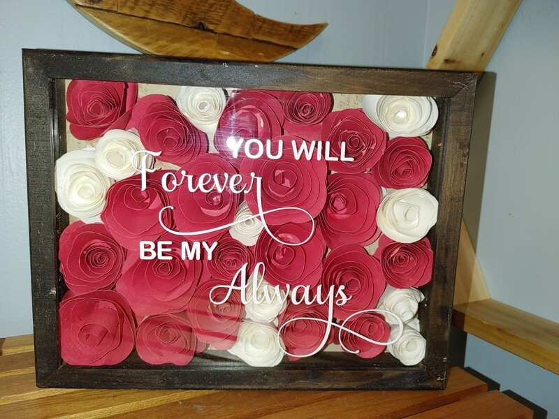 Paper Roses Shadow Box.