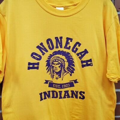 Hononegah T-shirt, Gold