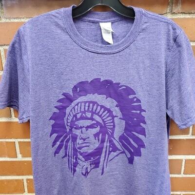 Hononegah Indian T-shirt, Heather Purple