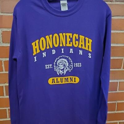 Hononegah Alumni Long-Sleeve T-shirt, Purple ***LIMITED STOCK
