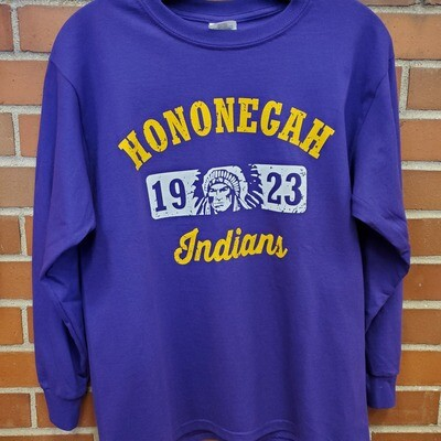 Hononegah Long Sleeve T-shirt, Purple