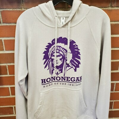 Hononegah Raglan Hooded Sweatshirt, Stone Heather