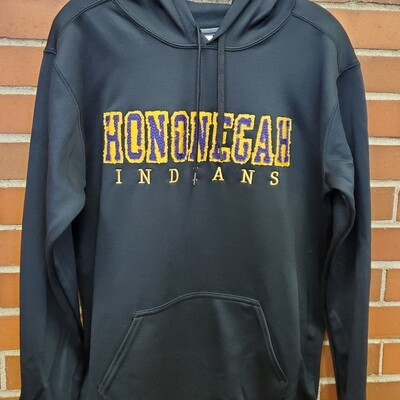 Hononegah Performance Hooded Sweatshirt, Black, Embroidered ***LIMITED STOCK