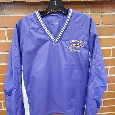 V-Neck Raglan Windshirt, Purple, Embroidered