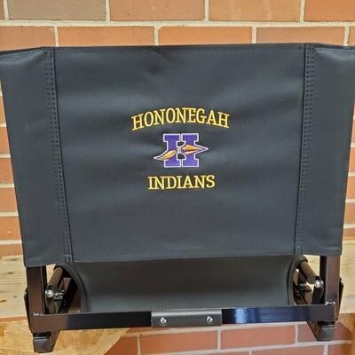 Black Stadium Chair, Hononegah Embroidery