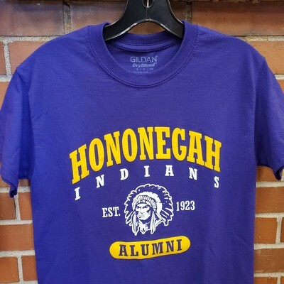 Hononegah Alumni T-shirt, Purple ***LIMITED STOCK