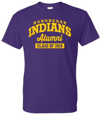 Hononegah Alumni T-shirt with Class Year, Purple