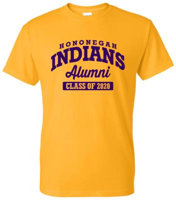 Hononegah Alumni T-shirt with Class Year, Gold