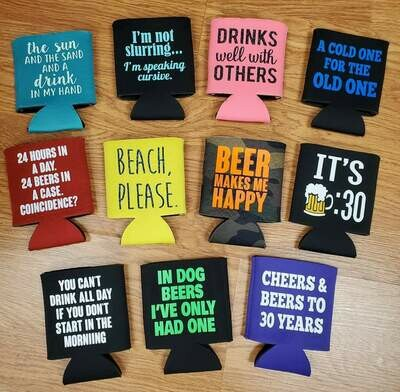 Can Holder, Can Koozie, Customizable