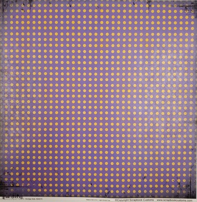 Hononegah Scrapbook Paper, Grungy Dots, Purple & Gold