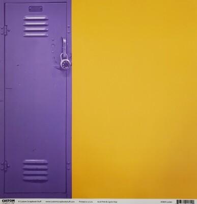Hononegah Scrapbook Paper, Locker, Purple & Gold