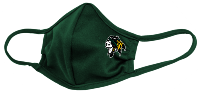 Roscoe Braves Face Mask, Forest Green