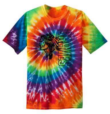 Braves Tie Dyed T-shirt, Rainbow