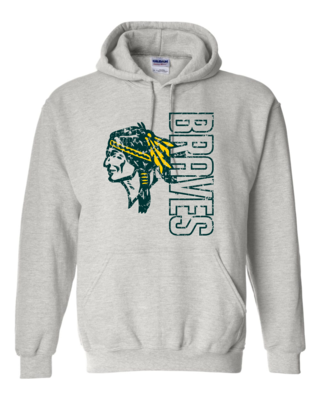 Braves Hooded Sweatshirt, 2 colors available, Adult Sizes