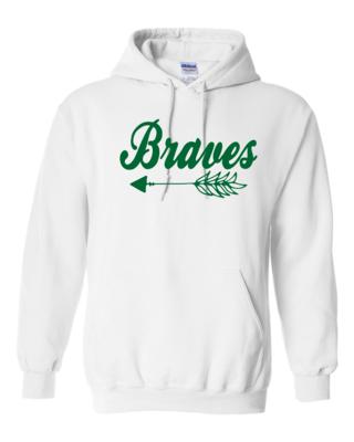 Braves Hooded Sweatshirt, 4 colors available, GLITTER LOGO