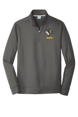 Braves Embroidered Performance 1/4 Zip Pullover Sweatshirt, 2 colors available