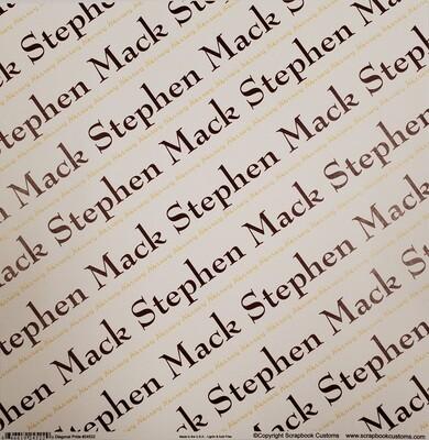 Stephen Mack Scrapbook Paper, Diagonal Pride, Maroon & Gold