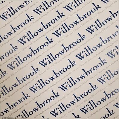Willowbrook, Scrapbook Paper, Diagonal Pride, Blue & Grey