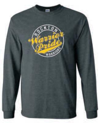 Rockton Warrior Pride Long Sleeve T-shirt, Dark Heather