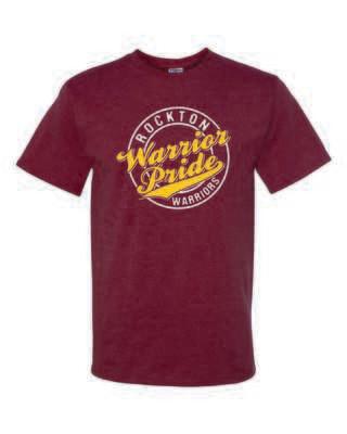 Rockton Warrior Pride T-shirt, Heather Maroon