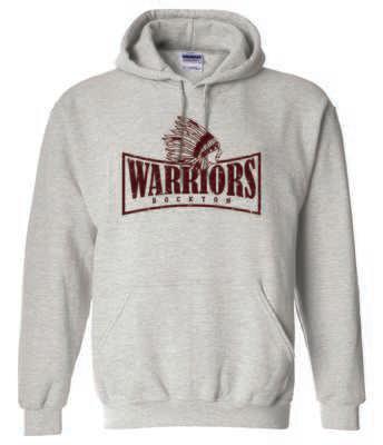 WARRIORS, Rockton, Hooded Sweatshirt, Ash Grey