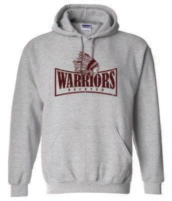 WARRIORS, Rockton,  Hooded Sweatshirt, 2 Colors Available