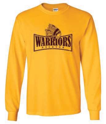 WARRIORS, Rockton, Long Sleeve T-shirt, Gold