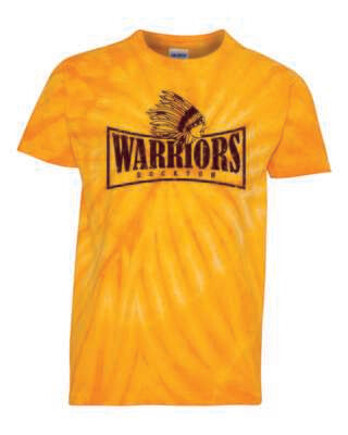 WARRIORS, Rockton, Tie Dyed T-shirt, 2 Colors Available