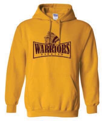 WARRIORS, Rockton, Hooded Sweatshirt, Gold