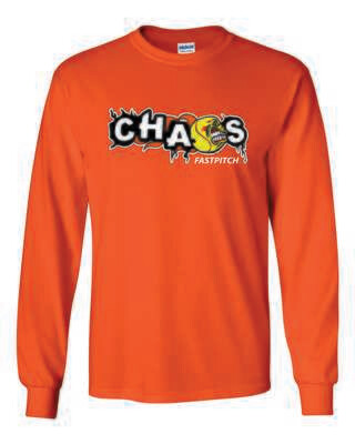 CHAOS FASTPITCH LONG SLEEVE  T-SHIRT, 4 Colors Available