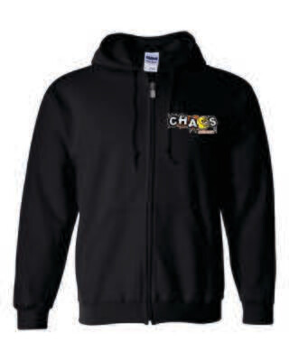 CHAOS FASTPITCH FULL-ZIP HOODED SWEATSHIRT, Embroidered Logo, 2 Colors Available