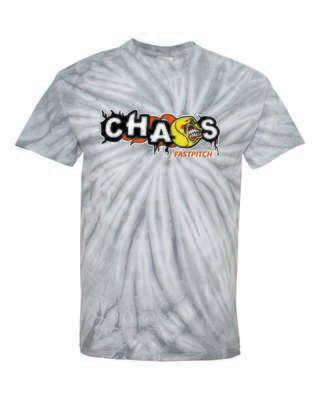 CHAOS FASTPITCH TIE DYED T-SHIRT, Silver, Youth