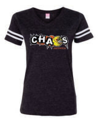 CHAOS FASTPTICH WOMEN'S V-NECK TEE, 3 Colors Available