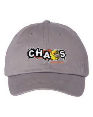 CHAOS FASTPITCH ADJUSTABLE CAP, Embroidered Logo, 3 Colors Available