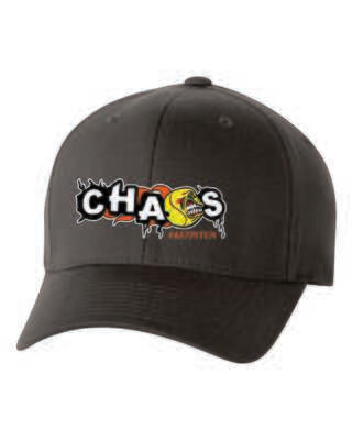 CHAOS FASTPITCH FLEXFIT CAP, Embroidered Logo, 3 Colors Available