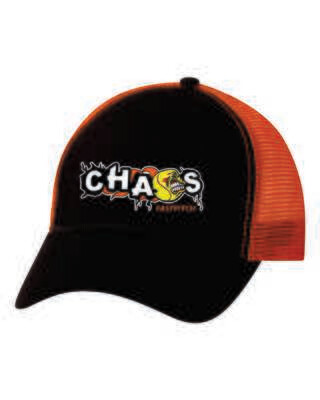 CHAOS FASTPITCH TRUCKER CAP, Embroidered Logo, 2 Colors Available