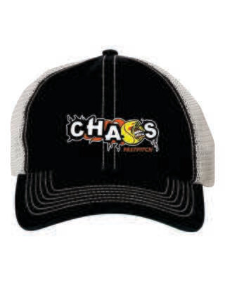 CHAOS FASTPITCH TRAWLER CAP, Embroidered Logo, 3 Colors Available
