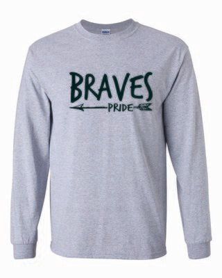 BRAVES PRIDE Long Sleeve T-shirt, 4 colors available