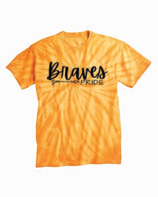 Braves PRIDE Tie Dyed T-shirt, Gold